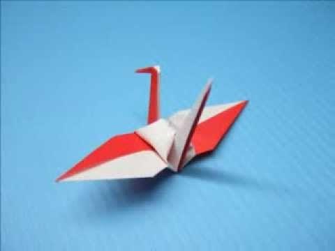 紅白鶴の折り方(背白嘴赤)                                                                                                                                                                                 もっと見る