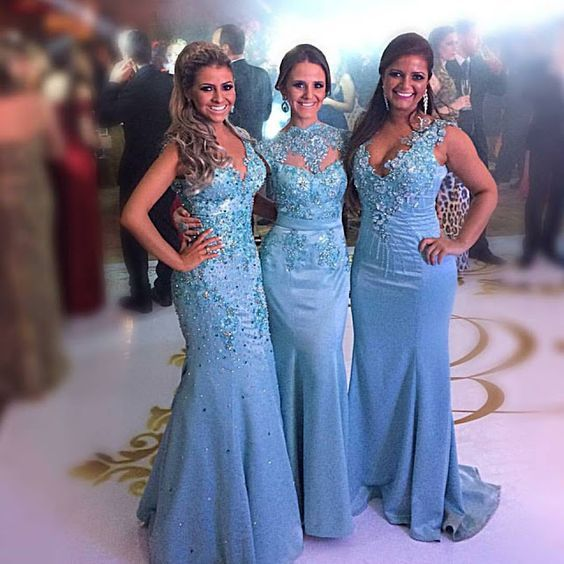 Mermaid Bridesmaid Dress F1399