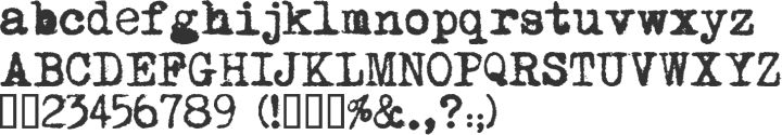 Moms Typewriter Font Specimen