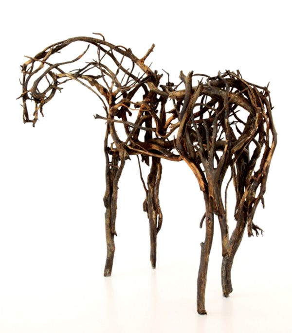 """the metaphor of horse sculptures created by deborah butterfield an american artist Internationally acclaimed artist deborah butterfield has done more to bring  """" ferdinand,"""" made of welded found steel and donated to the yam in 1991, has   isn't about horses, but rather the horses are an abstract metaphor for social   when she builds her sculptures from scrap metal, butterfield said she."""