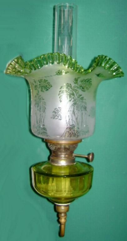 Fabulous Early Hugo Schneider Oil Lamp Wall Sconce from antiquesshowroom on Ruby Lane Lamp ...