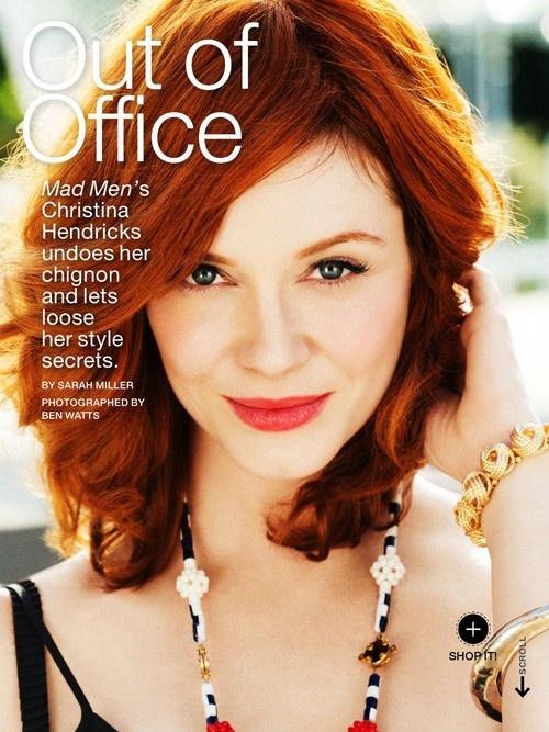 Christina Hendricks in Lucky Magazine, June 2013 Issue
