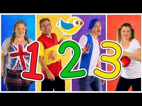 """""""Counting to 10"""" Song in Four Languages! Kids Learn to Count 1 to 10. Numbers Song, Kids Songs - YouTube"""