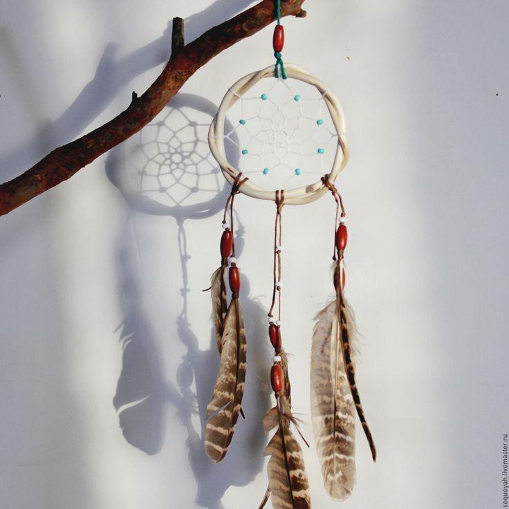 Купить Ловец снов - бежевый, коричневый, ловец снов, ловцы снов, dreamcatcher, подарок, бохо