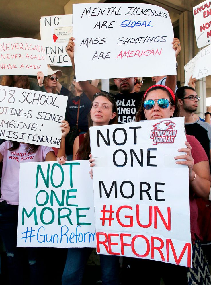 After A Call To Action From Student Emma Gonzalez, Florida Activists Take On Gun Laws+#refinery29