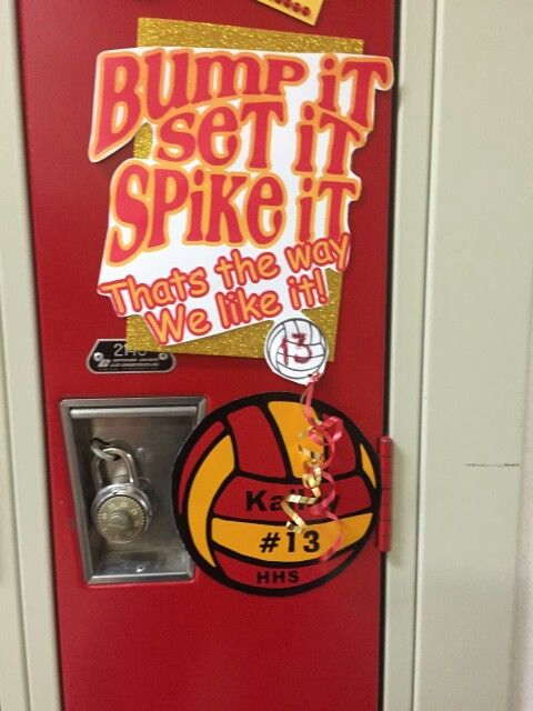 Volleyball locker decoration