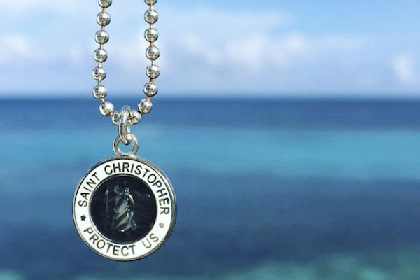 SMALL ST. CHRISTOPHER NECKLACE  Are you searching for that perfect St. Christopher Necklace for your next adventure? Looking for a gift to give someone special