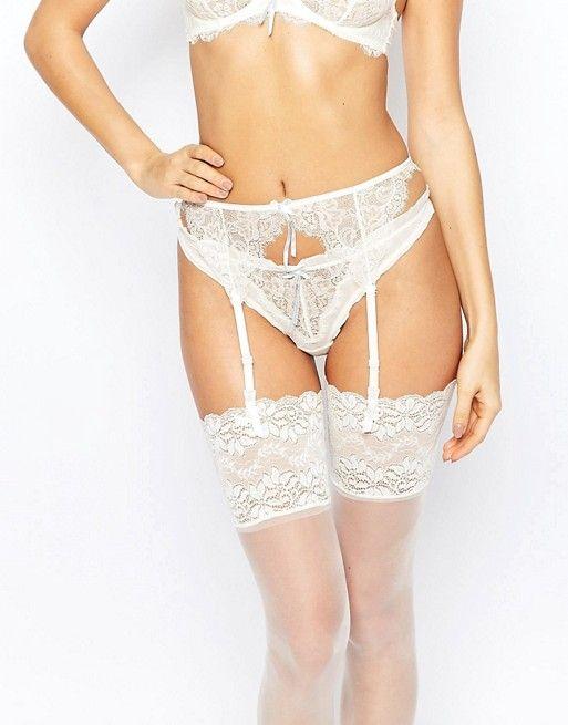 Heidi Klum Intimates   Heidi Klum Intimates Bridal Valerie Suspender Belt