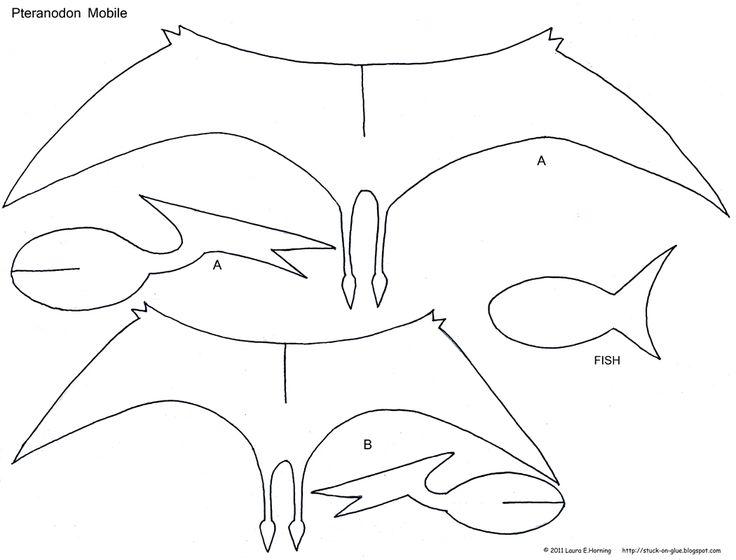 Preschool Crafts for Kids*: Pteranodon Dinosaur Mobile Craft
