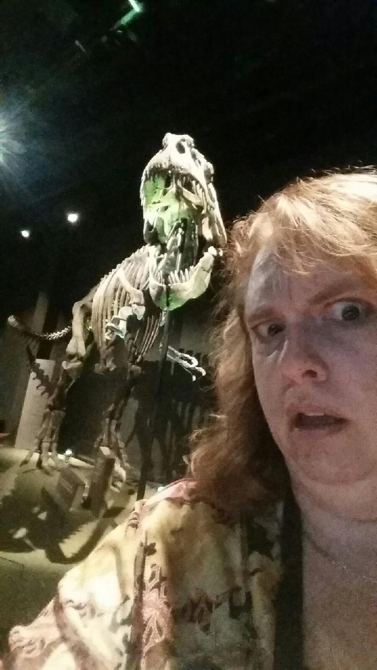 Giganotosaurus takes in the #ScienceSelfie spotlight.