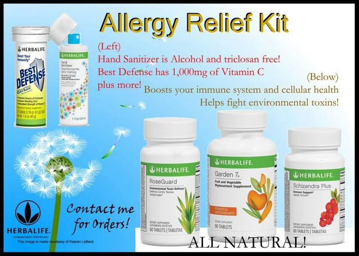 Herbalife Allergy Relief Kit, Vitamin C, Boosts Your Immune System And  Cellular Health And Helps Fight Environmental Toxins