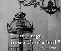 Points for honesty, Mr. Franz Kafka... but, uh... I think I'm going to cancel on our date. Probably wouldn't have been able to find the restaurant, anyhow.