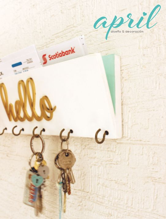 Portallaves, keys, hanger keys Facebook April diseño y decor