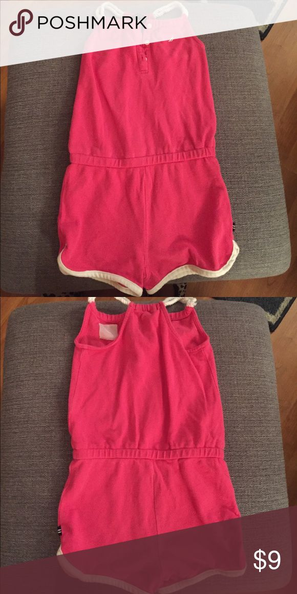 Nautical one piece Romper Good condition; hot pink with white trim. Nautica One Pieces Bodysuits