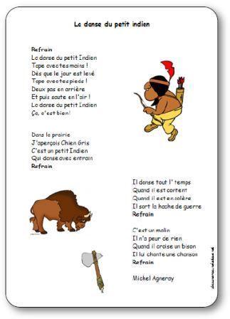 Chanson La danse du petit indien de Michel Agneray illustrée
