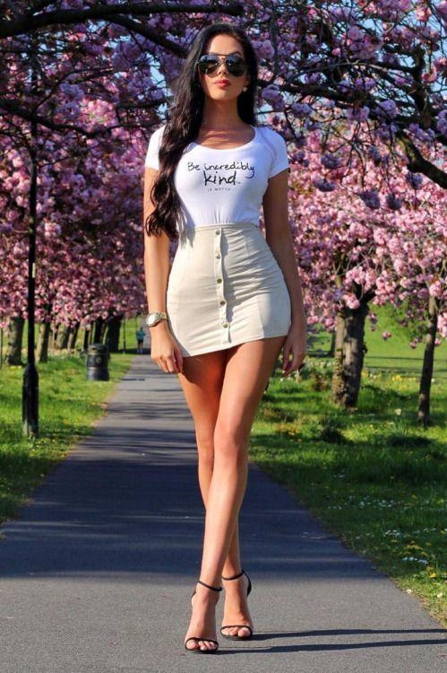 sexy hot women wearing mini skirts and heels