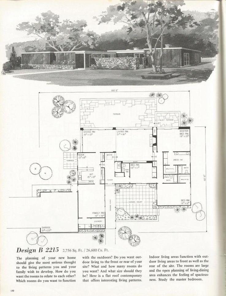 17 best images about mid century architecture on pinterest for Vintage home plans