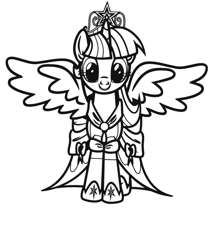 twilight sparkle my little pony coloring page - Twilight Coloring Pages Print