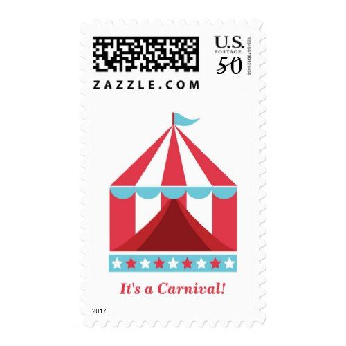 Modern Stylish Backyard Carnival Birthday Party Postage