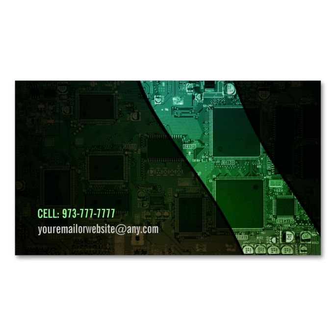 425 best computer business card templates images on pinterest customizable computer chip business cards wajeb Gallery