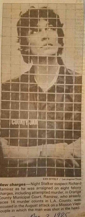 Richard Ramirez Newspaper Article (1985)
