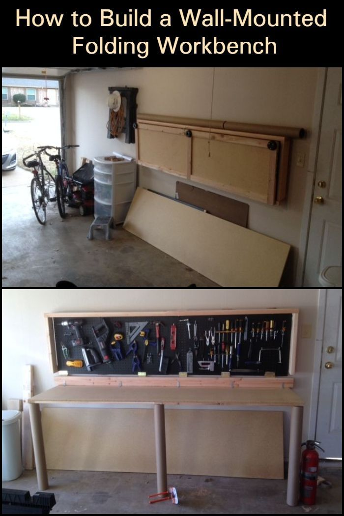 How To Build A Wall Mounted Folding Workbench Folding Workbench