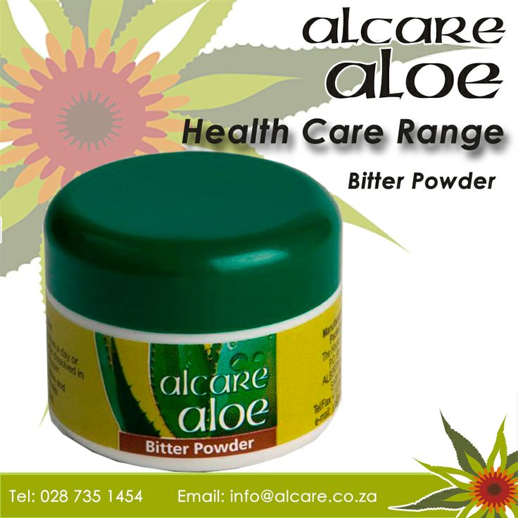 Bitter Powder. Made from natural bitter Aloe ferox sap that has been spray dried to a fine yellow powder. Aloin, the main ingredient, is a strong laxative that has purifying properties, making it an excellent aid in detoxifying the body. Bitter Powder is also said to relieve the symptoms of hay fever and sinusitus.  Order online: http://on.fb.me/1fJVdeb #health #aloe #bitterpowder