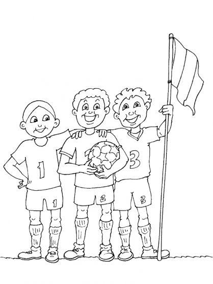 Kleurplaten voetbal / Football