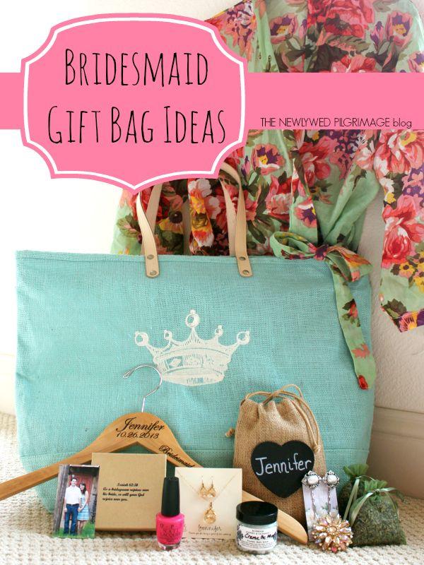 Bridesmaid Gift Bag Ideas via The Newlywed Pilgrimage blog