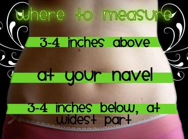 Where to measure before and after using your It Works! Global Ultimate Body Applicator Wrap Tighten, tone and firm in as little as 45 minutes! Contact me for more at www.sheralyn.myitworks.com