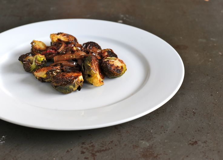 Roasted Brussels Sprouts with Sherry Wine Reduction