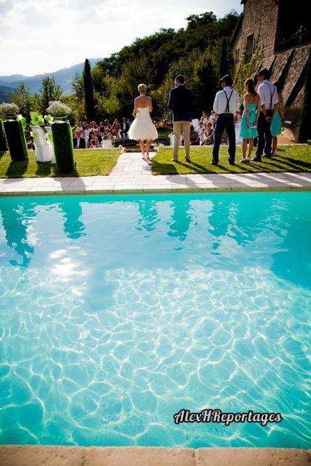 Mariage au domaine de vavril et pourquoi pas se marier for Au bord de la piscine