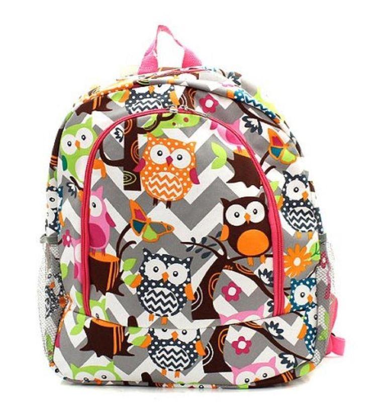 Owl Chevron Backpack Hp   #NGIL #Backpack