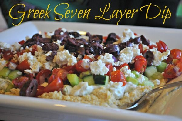 Greek Seven Layer Dip from @Kelley Oberg Smith Epstein {Mountain Mama Cooks}