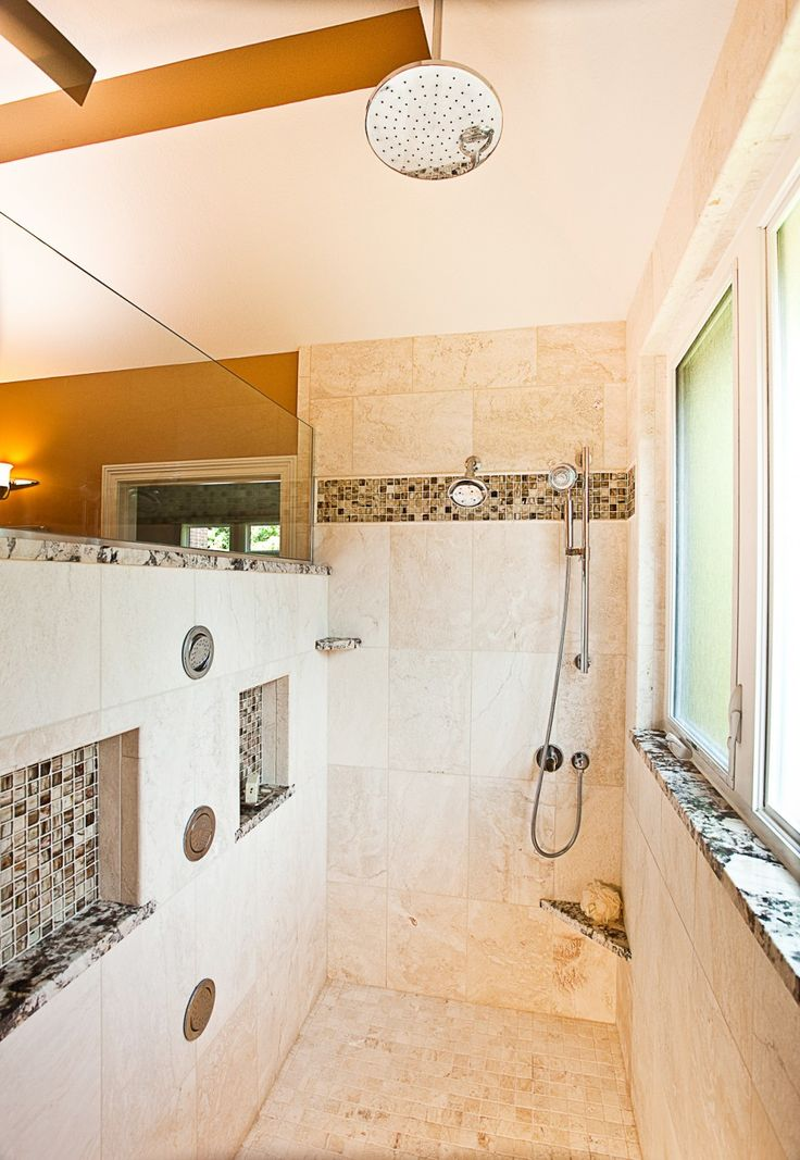 Glorious Doorless Walk In Shower Id Like Stones Place The Tiles And Rubbed Oil Bronze Faucets