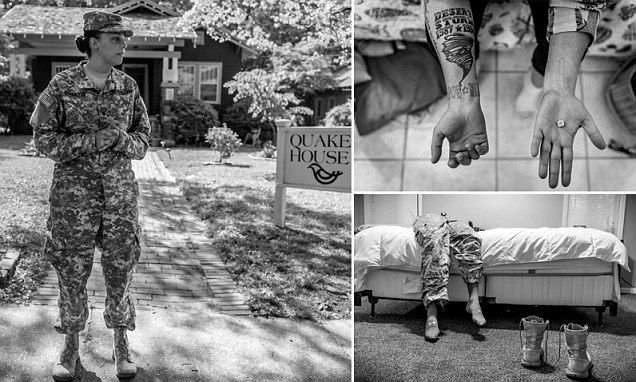 'We lost our jobs for reporting being raped': Haunting photo essay depicts the suffering of women who were victims of sexual violence in the U.S. military