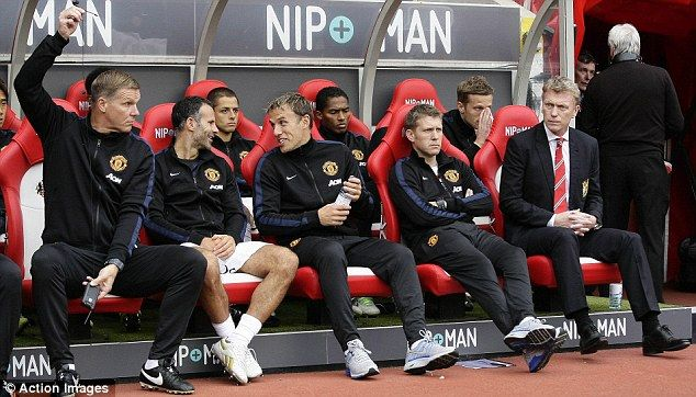 Moyes brought in his own backroom team at United, including  assistant manager Steve Round, coaches Phil Neville and Ryan Giggs as well as goalkeeping coach Chris Woods