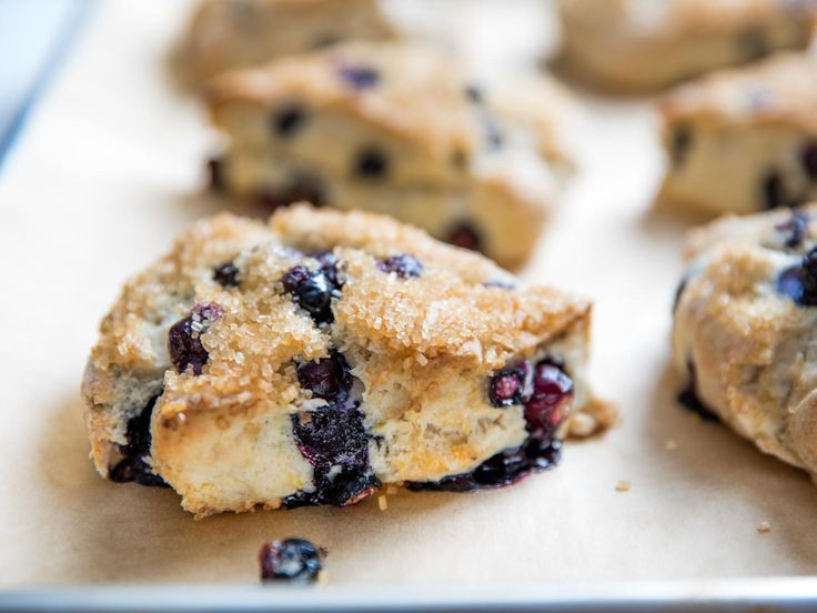 """Tender Blueberry-Lemon Scones Recipe: Easy to make (food processor!) and """"accidentally vegan"""" (calls for coconut oil and full-fat coconut milk)"""