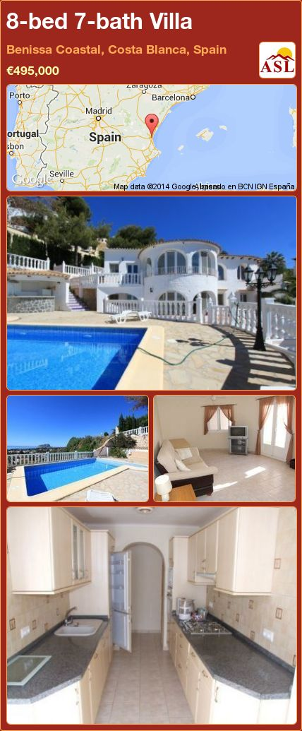 8-bed 7-bath Villa in Benissa Coastal, Costa Blanca, Spain ►€495,000 #PropertyForSaleInSpain