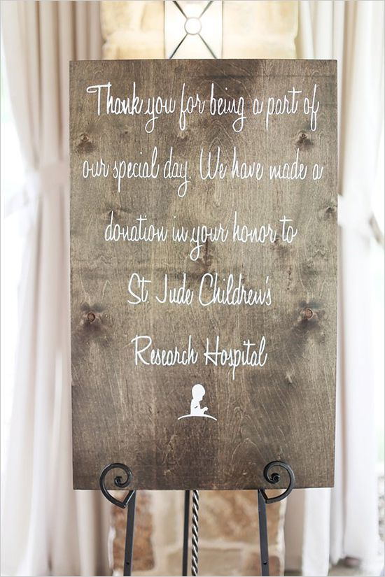Clean And Classy Texas Wedding Donation
