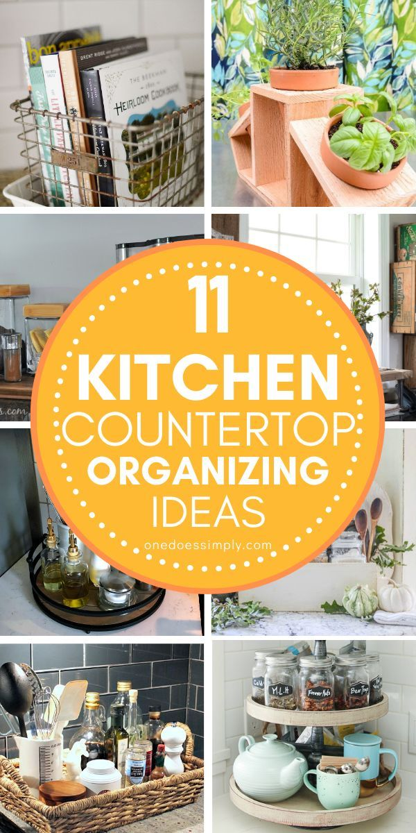 11 Kitchen Countertop Organization Ideas To Help You Build A Beautiful Kitchen One Does Simply Kitchen Countertops Kitchen Countertop Organization Kitchen Counter Organization