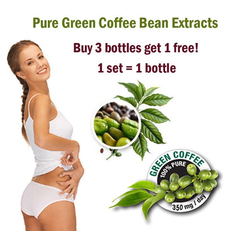 Compre 3 y obtenga 1 gratis! grano de café verde extracto de producto de pérdida de peso dieta mujeres slimming Coffee bean extractos perder peso del producto