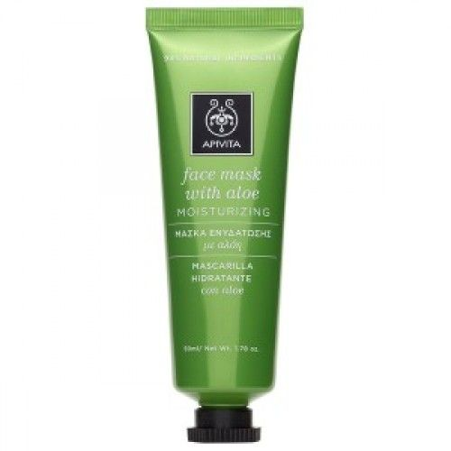 Apivita Face Mask Aloe (Μάσκα με Αλόη) 50ml / Ενυδατώνει σε βάθος την επιδερμίδα και παράλληλα την προστατεύει από τους ερεθισμούς. Προσφέρει αντιοξειδωτική προστασία, προφυλάσσοντας την επιδερμίδα από τις περιβαλλοντικές επιθέσεις και την πρόωρη γήρανση. Κατάλληλη για όλους τους τύπους δέρματος.  #Apivita