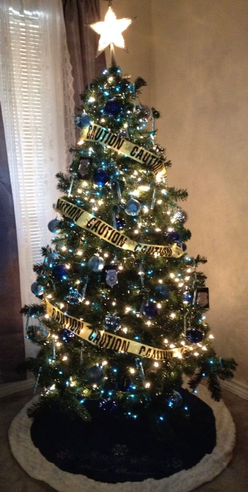 Police Themed Christmas Tree Police Pinterest Trees