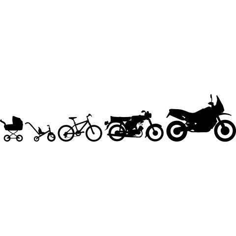 Enduro Adventure Simson Evolution - Die Evolution einer Enduro Adventure in Bilder vom Dreirad hin zum ersten Fahrrad, dann die erste Simson S50 bis zum schluss das Motorrad folgt.