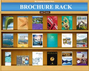 "Brochure Rack"" cruise rederier"