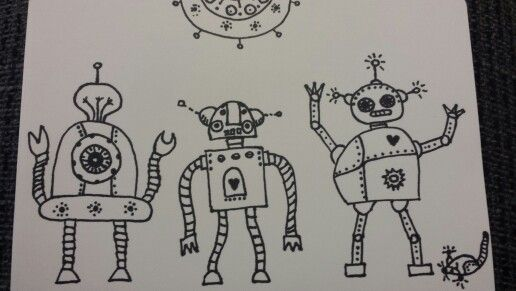 Robots dancing on the Party :) or drawing during lazy afternoon
