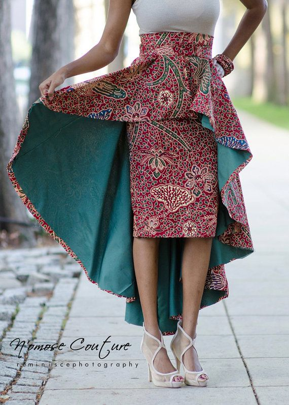 NEED La jupe de Ivie High Low par NomoseCouture sur Etsy ~Latest African Fashion, African Prints, African fashion styles, African clothing, Nigerian style, Ghanaian fashion, African women dresses, African Bags, African shoes, Kitenge, Gele, Nigerian fashion, Ankara, Aso okè, Kenté, brocade. ~DK