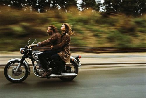 Francoise Hardy and Georges Moustaki in Paris, 1970.