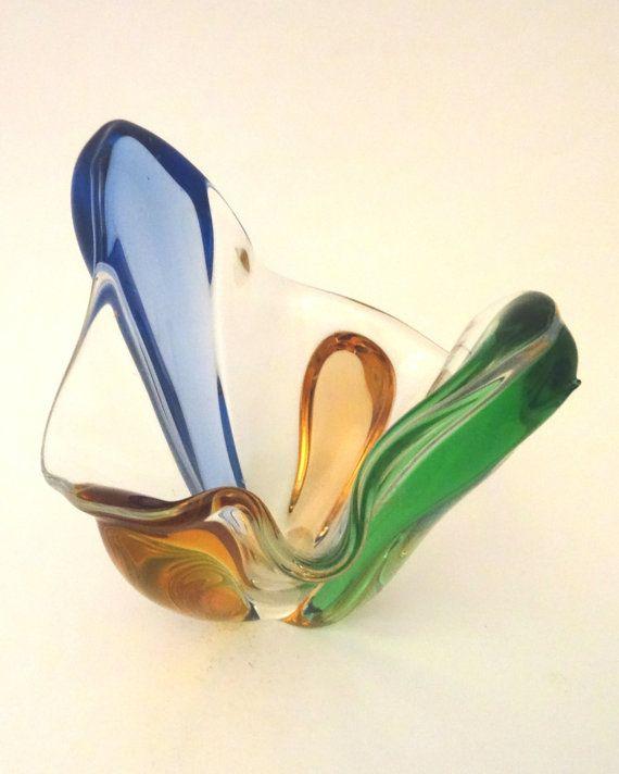 Mstisov Frantisek Zemek 1959 wide glass by CzechGlassCollector